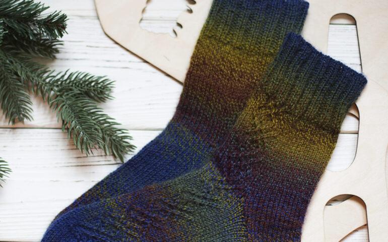 Вязание носков спицами и крючком