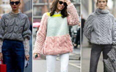 Вязание крючком свитер