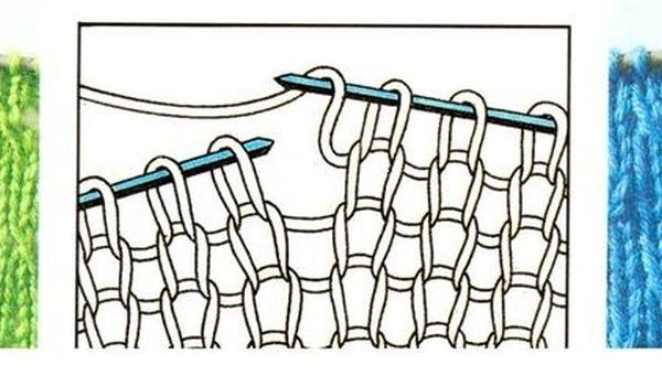 Вязание узоров с накидами