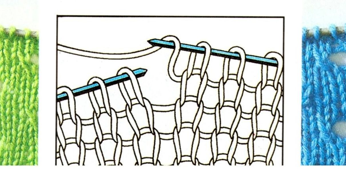 вязание узоров с накидами клубок счастья