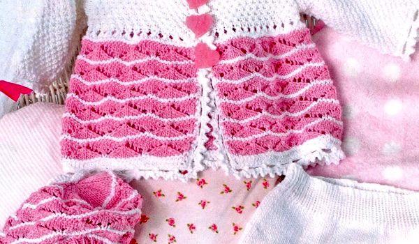 Вязание спицами для девочек до года