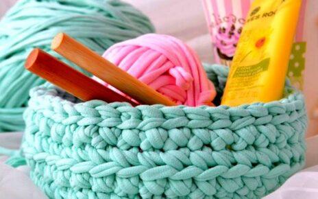 Вязание из трикотажной пряжи