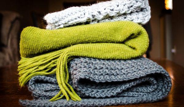 Вязание шарфа для начинающих