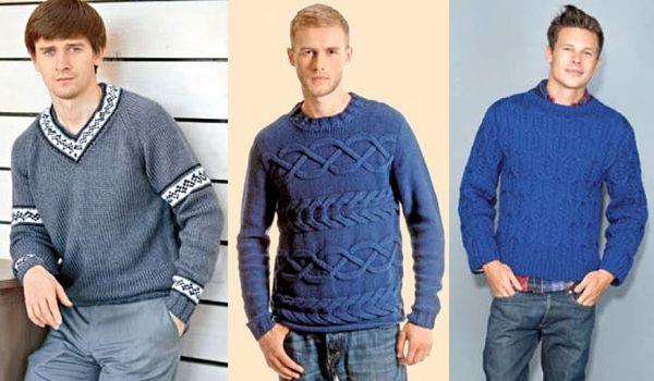 Вязание мужского пуловера